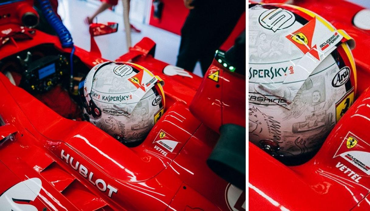 Vettel omaggia Schumacher in Cina con un casco dedicato al campione di F1