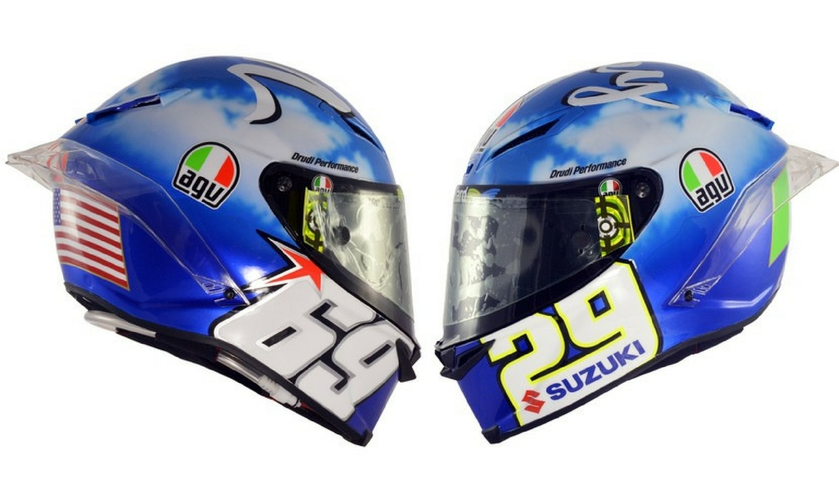 Andrea Iannone Nicky Hayden omaggio