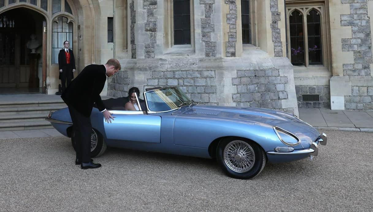 Jaguar E-Type Concept Zero Meghan e Harry