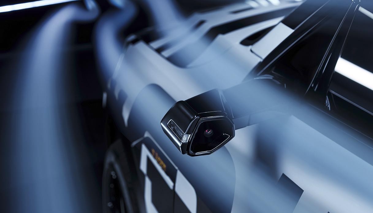 Dettaglio dei nuovi specchietti virtuali Audi