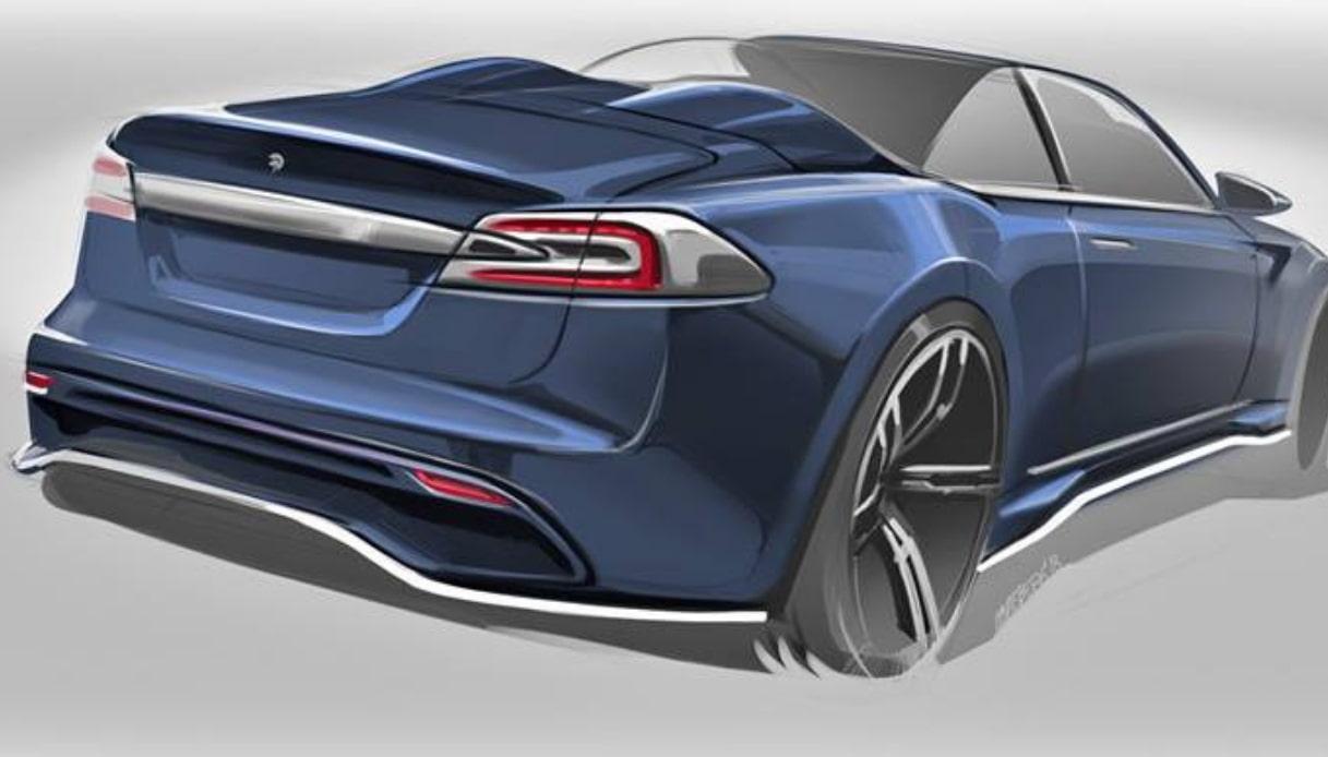 ares design tesla model s cabrio