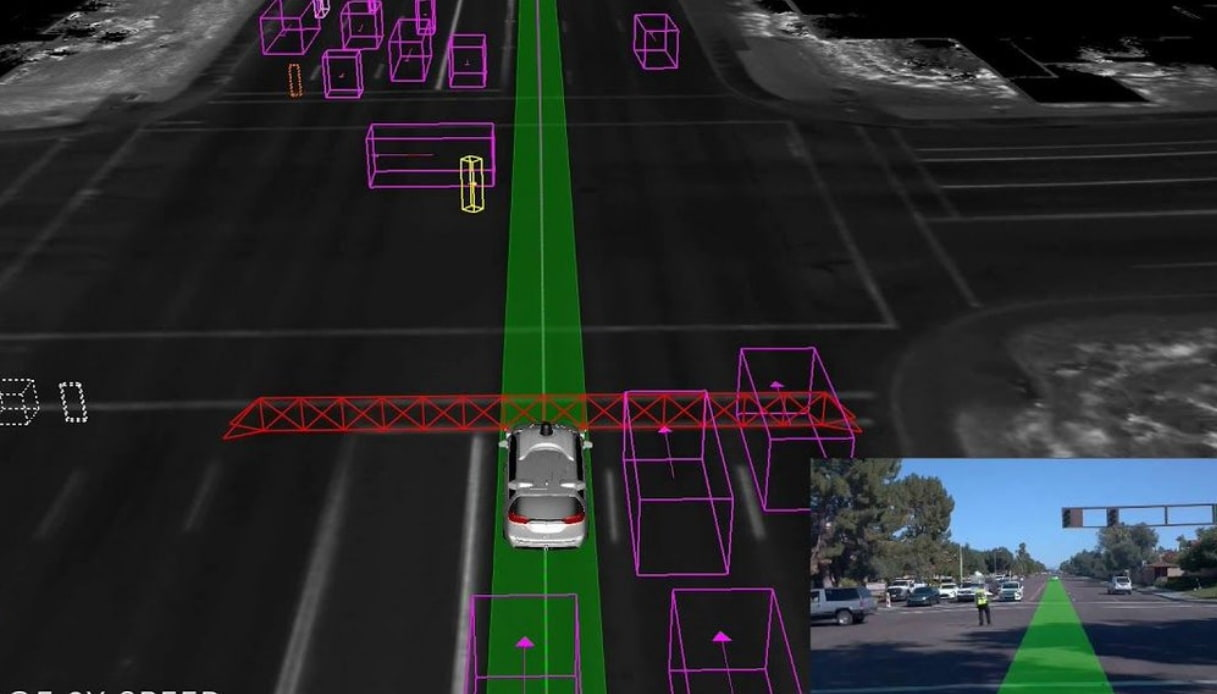 auto guida autonoma vigili