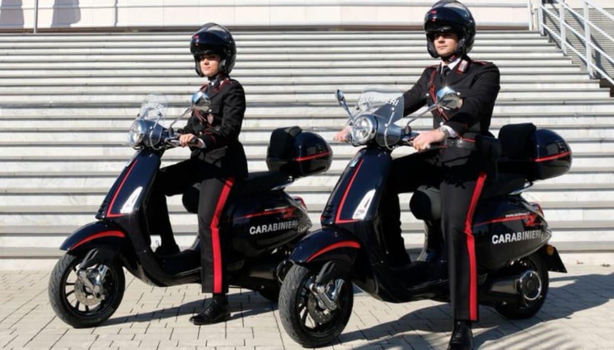 vespa elettrica carabinieri